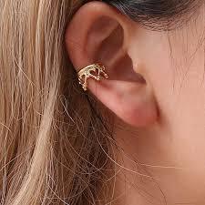 Clip on Cuff Earrings Men Eardrop Ear Clip <b>1 Pair</b> Unisex <b>Women</b> ...