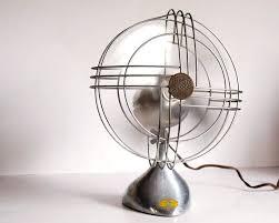 vintage fan art deco zephyr airkooler chrome and aluminum desk fan 1940s ben office fan
