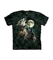 The Mountain Men's Three Wolf Moon Short Sleeve ... - Amazon.com