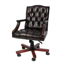 luxury leather office chair brown swivel chair desk chair executive chair chesterfield presidents leather office chair amazoncouk