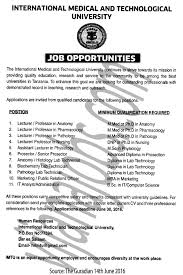 professor lecturer assistant lecturer prosector anatomy lab job description