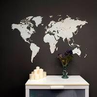 «<b>Деревянная карта мира</b> на стену Wall Decoration ...