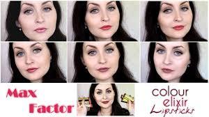 <b>Max Factor Colour Elixir</b> Lipsticks: Lip Swatches! - YouTube