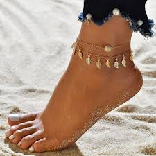 Vintage Tassels Leaves Double Layer <b>Women Anklets</b> | <b>ANKLETS</b> ...