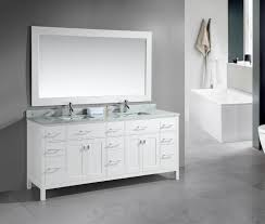 Bathroom White Vanities Adorna 78 Inch Double Sink Bathroom Vanity Set White Finish