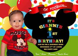 mickey mouse birthday invitation com mickey mouse st birthday invitation