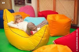 Детские кресла пуфы и <b>кресло мешок</b> банан в детском центре ...