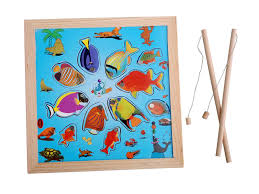 New Fishing <b>Toy</b> Set Suit <b>Magnetic</b> Play Water <b>Baby Toys</b> Wooden ...