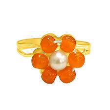 Buy SURATDIAMOND <b>Flower Shape</b> Orange Coloured Stone and ...
