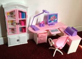 amazoncom barbie size dollhouse furniture home office computer lamp printer toys amazoncom barbie size dollhouse