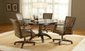 casual dining chairs with casters:  full size of dining set with rolling chairs dining set with caster chairs casual m sets