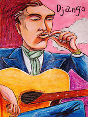 Image is loading DJANGO-REINHARDT-PRINT-poster-gypsy-jazz-guitar-selmer. Image not available Photos not available for this variation - %24(KGrHqMOKiEE4n35LtG-BORw98kuow~~0_35