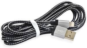 Кабель <b>Gurdini Nylon</b> Series <b>Lightning</b> 1.5 m,909238,черно-серый ...