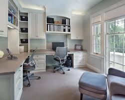 beautiful home office design for two people with double desk awesome modern home office design attractive modern office desk design