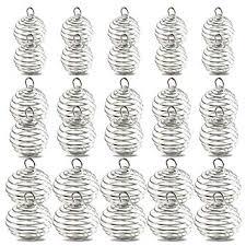 Spiral Bead Cages Pendants, YGDZ 30pcs 3 Sizes ... - Amazon.com