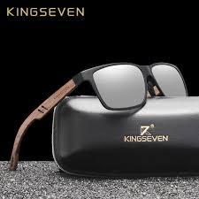 KINGSEVEN Brand New Design <b>Aluminum</b>+Walnut Wooden ...