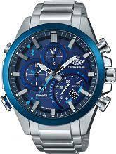 "smart watches men s ladies bluetooth watches watch shop comâ""¢ mens casio edifice time traveller bluetooth hybrid smartwatch alarm chronograph watch eqb 500db 2aer"