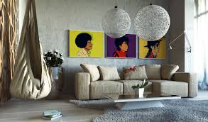 rustic style living room clever:  pop art decor inspiration