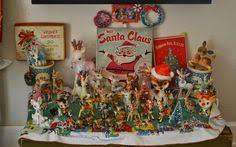 Vintage-Antique Chalk Figurines <b>Christmas</b> Nativity Scene (<b>10 pc</b> ...