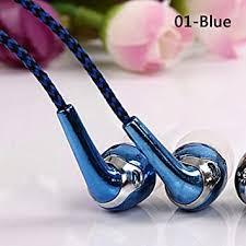 Eachbid <b>in-Ear</b> Earphone <b>Woven</b> Fiber Cloth Line Headphone 3.5 ...