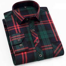 <b>Aoliwen Men's</b> Plaid Flannel Shirts Long Sleeve Casual Button ...