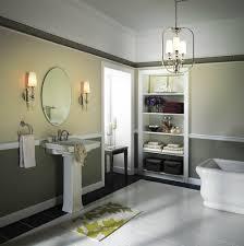 bathroomremarkable bathroom lighting idea with lantern chandelier and classic wall sconces beside oval mirror bathroom chandelier lighting ideas