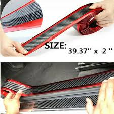 2019 <b>Car</b> Stickers Carbon Fiber Rubber Door Sill <b>Protector</b> For <b>Auto</b> ...