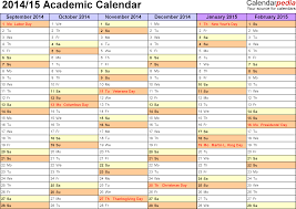 academic calendars as printable excel templates template 2 academic calendar 2014 15 for excel landscape orientation months horizontally