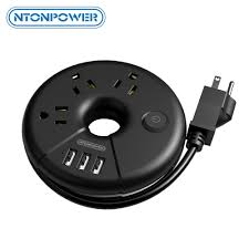<b>NTONPOWER</b> ODR Small Portable USB Travel <b>Power Strip US</b> Plug ...