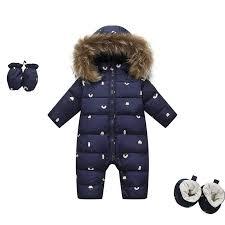 <b>Russian newborn winter baby</b> clothes snowsuit 90% duck down ...
