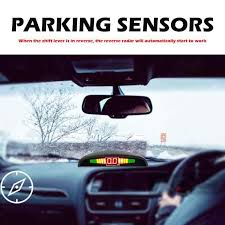 <b>Reversing</b> Parking 4 Sensors LED Audio Buzzer Roof Mount <b>Mirror</b> ...