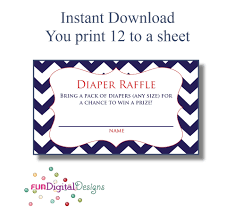 diaper raffle tickets printable digital file diy for your 128270zoom