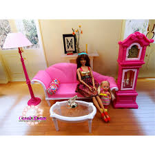 miniature luxury living room furniture set for barbie doll house best gift toys for girl free barbie furniture for dollhouse