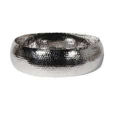 Nibely <b>Silver</b> Hammer Effect Bowl, Large – Ivywell Interiors