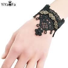 YiYaoFa Handmade Gift Vintage Black Lace Bracelet for Women ...