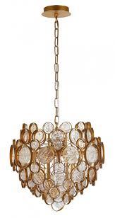 <b>Светильник</b> подвесной <b>Crystal Lux DESEO</b> SP6 D460 GOLD ...