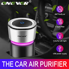 Onever <b>Car Air Purifier 12V</b> Negative Ions Air Cleaner Ionizer Air ...