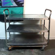 red metal kitchen cart vintage rolling zoom