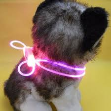 Adjustable LED Pet Dog Collar Night Safety Flashing Glow In The ...