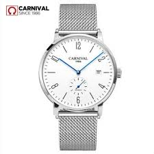 <b>Carnival men watch</b> switzerland luxury brand automatic mechanical ...