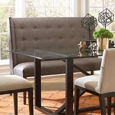 tufted dining bench with back bemodern dining items upholstered dining settee with tufted wing back