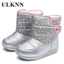 <b>ULKNN</b> Girls <b>Boys Winter Boots</b> Wool Lining For <b>Children</b> Snow ...
