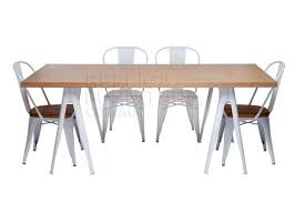 trestle table with xavier pauchard dining chairs chairs xavier pauchard