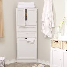 bathroom quot mission linen:  elegant corner linen cabinet for space saving bathroom idea traba homes also bathroom linen cabinets