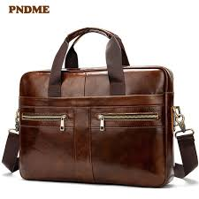 <b>PNDME Vintage</b> Genuine Leather Men'S Briefcase Casual Simple ...