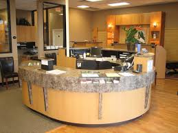 receptionist chic front desk office interior design ideas