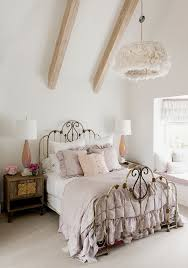 romantic white shabby chic bedroom interior decorating ideas with single brown iron bed bedrooms ideas shabby