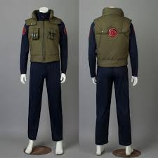 naruto hatake kakashi cosplay costume men army green vest japan anime naruto costumes coat halloween dress