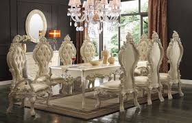 Traditional Formal Dining Room Sets Homey Design Hd 8008 7 Pieces Renaissance Style Dining Table Set