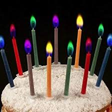 Henbrandt Coloured <b>Birthday Cake Candles</b> - Pack of 12: Amazon ...